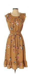 LC Lauren Conrad Pleated Neck Midi Dress